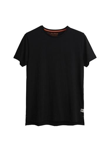Bad Bear Bad Bear Erkek Siyah Bisiklet Yaka T-Shirt Siyah